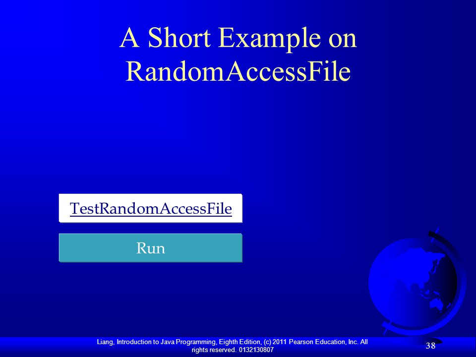 A Short Example on RandomAccessFile