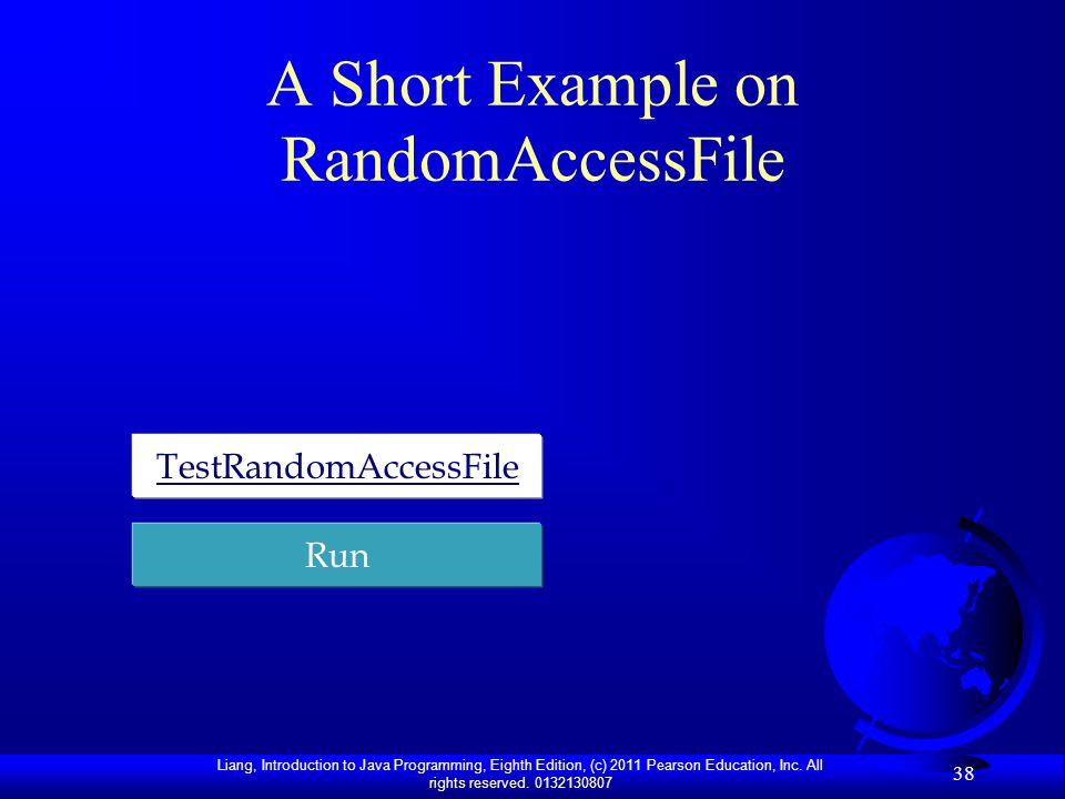 A Short Example on RandomAccessFile