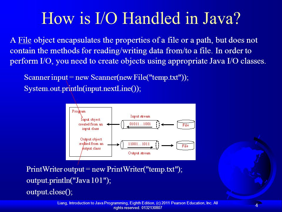 How is I/O Handled in Java