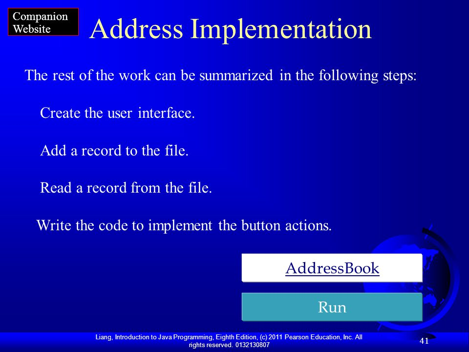 Address Implementation