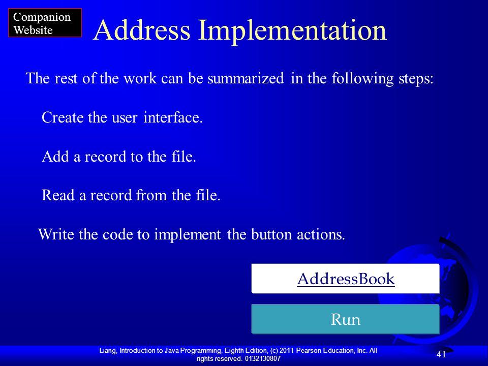 Address Implementation
