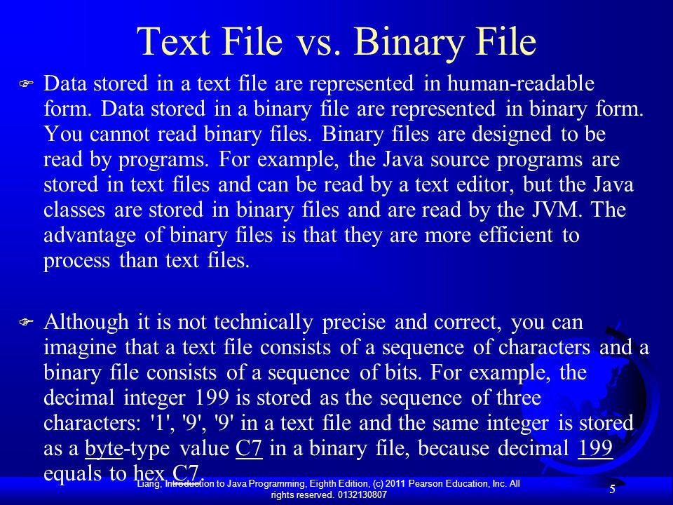 Text File vs. Binary File