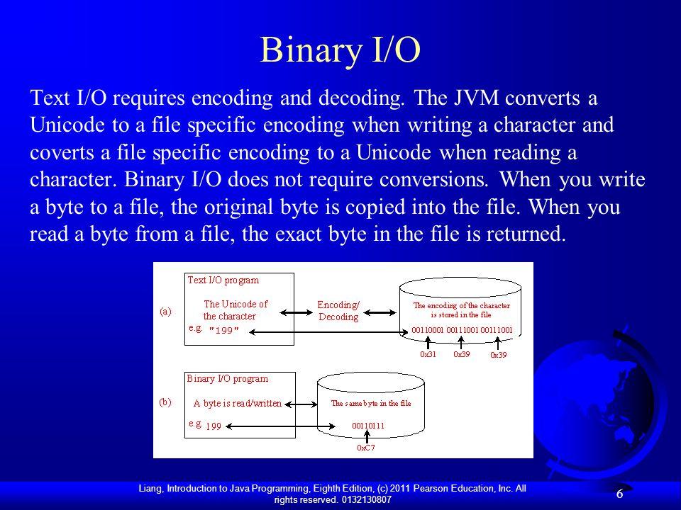 Binary I/O