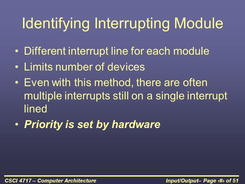 Identifying Interrupting Module