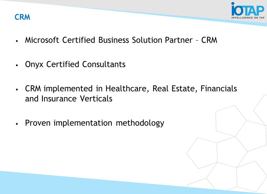 CRM Microsoft Certified Business Solution Partner – CRM