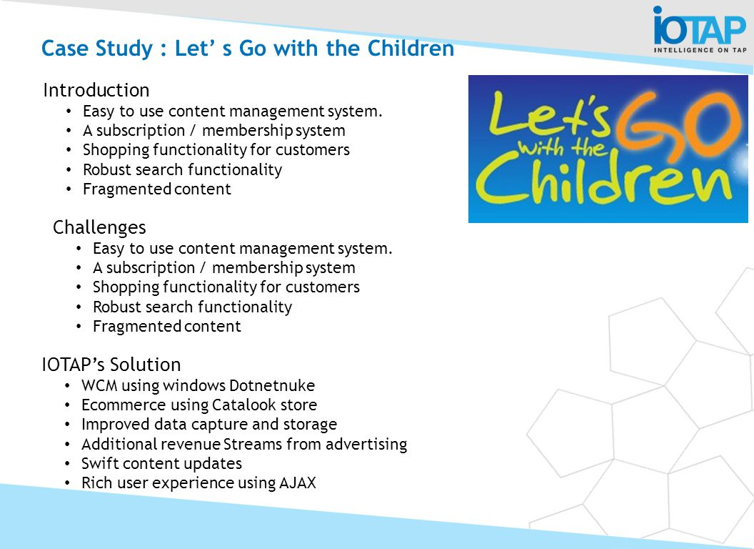 Case Study : Let' s Go with the Children