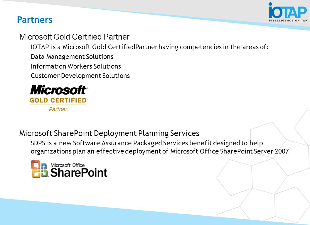 Partners Microsoft Gold Certified Partner