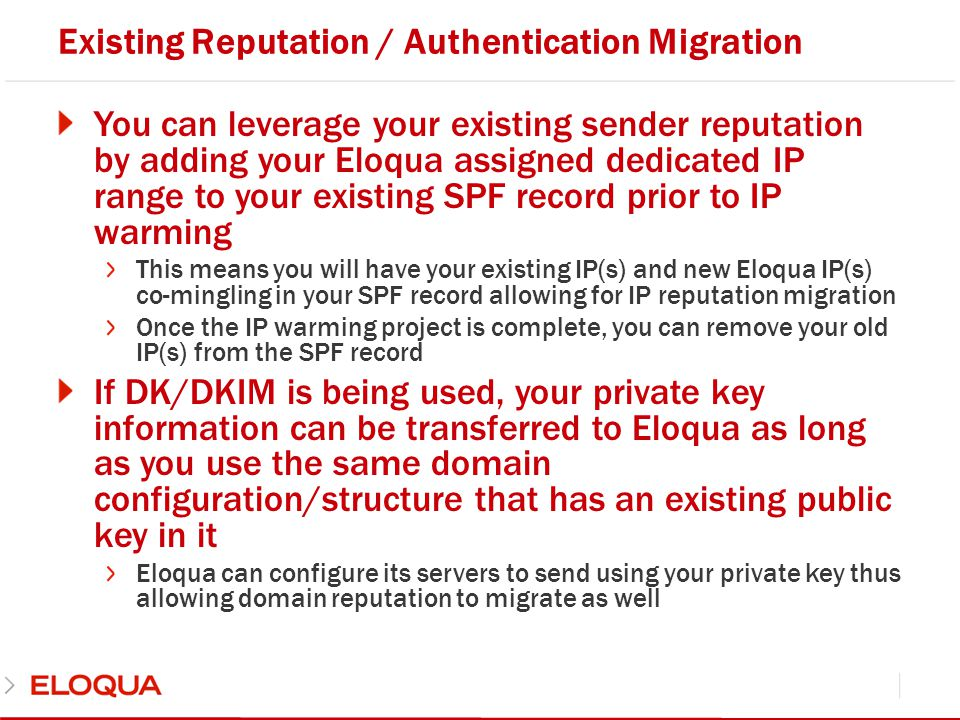 Existing Reputation / Authentication Migration
