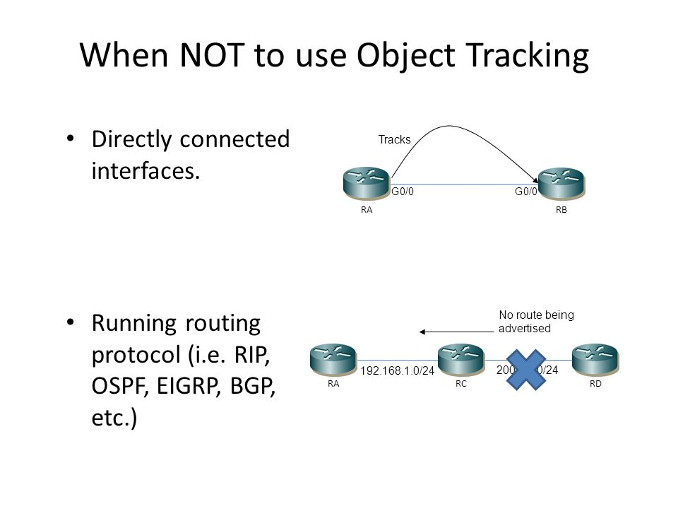 When NOT to use Object Tracking