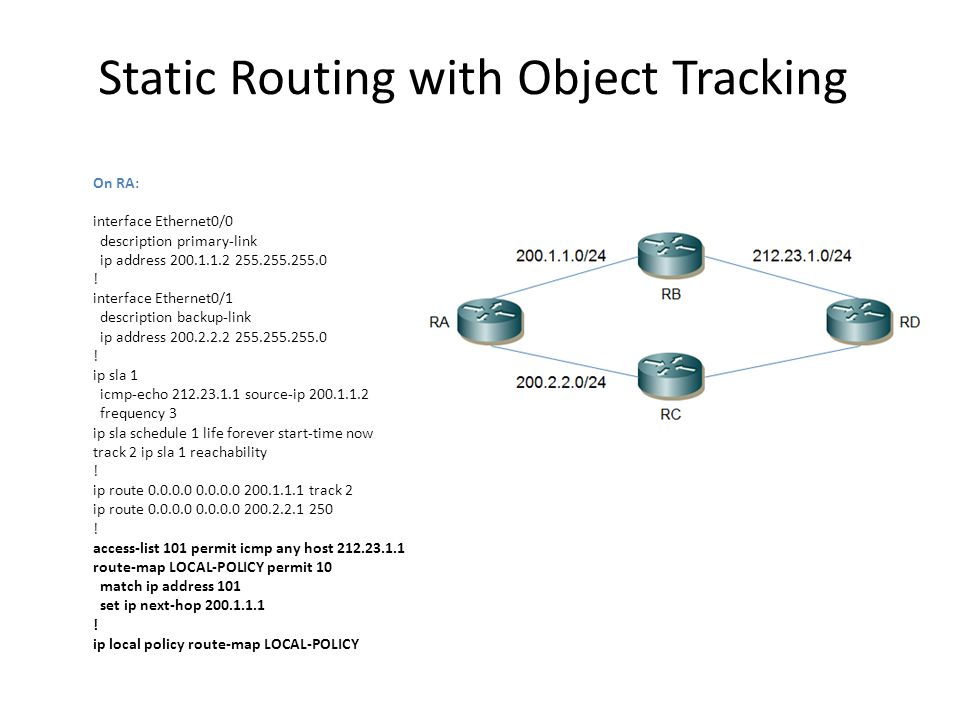 Static Routing with Object Tracking