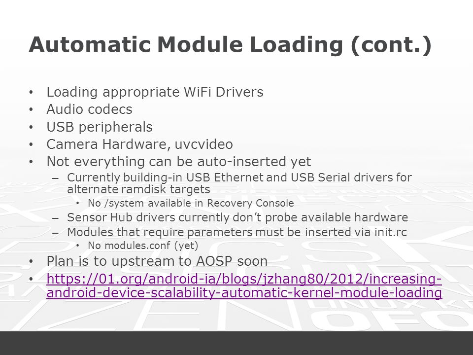Automatic Module Loading (cont.)