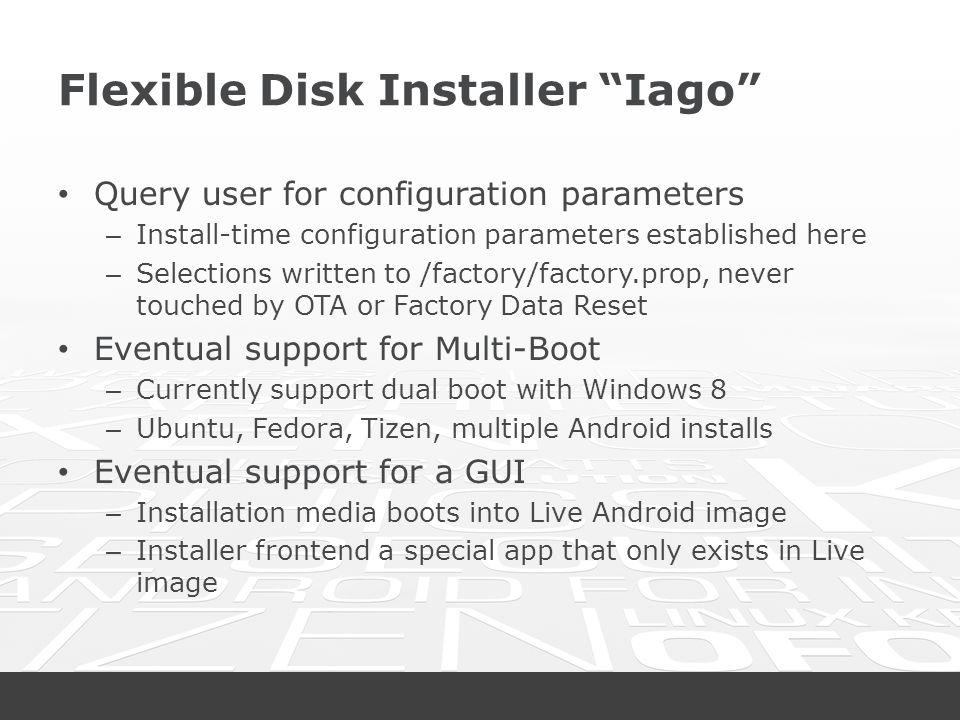 Flexible Disk Installer Iago
