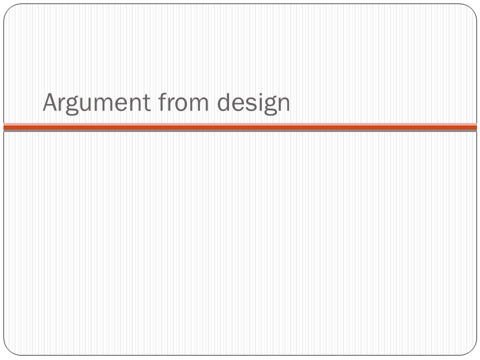 Argument from design