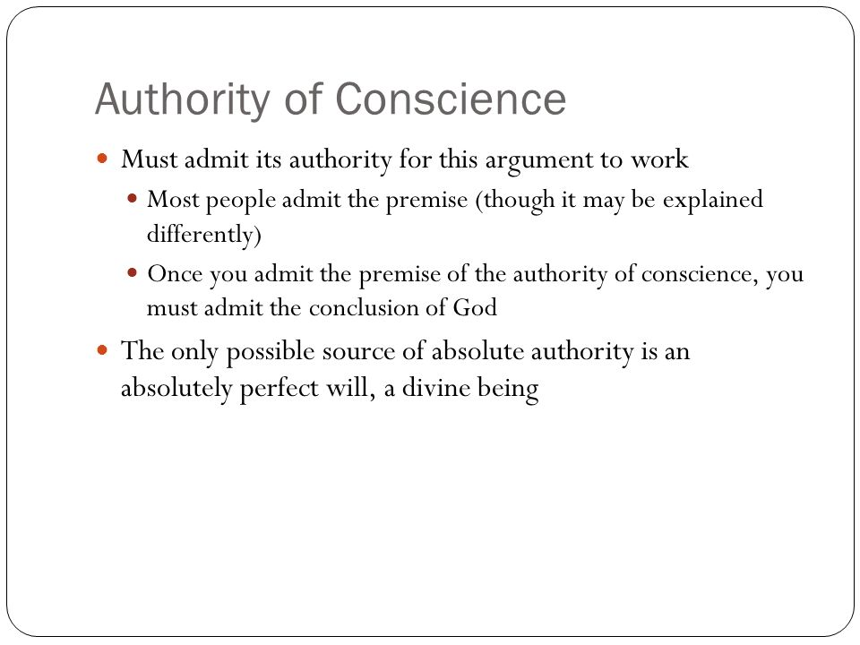 Authority of Conscience