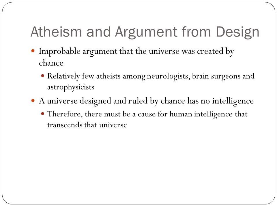 Atheism and Argument from Design