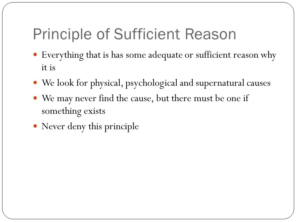 Principle of Sufficient Reason