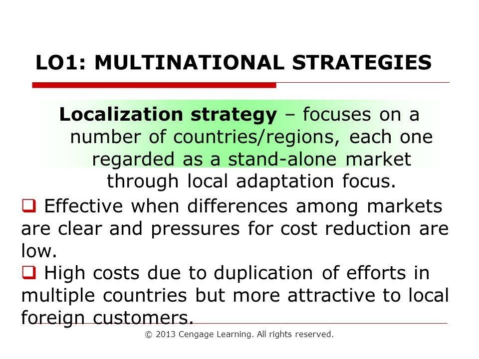 LO1: MULTINATIONAL STRATEGIES