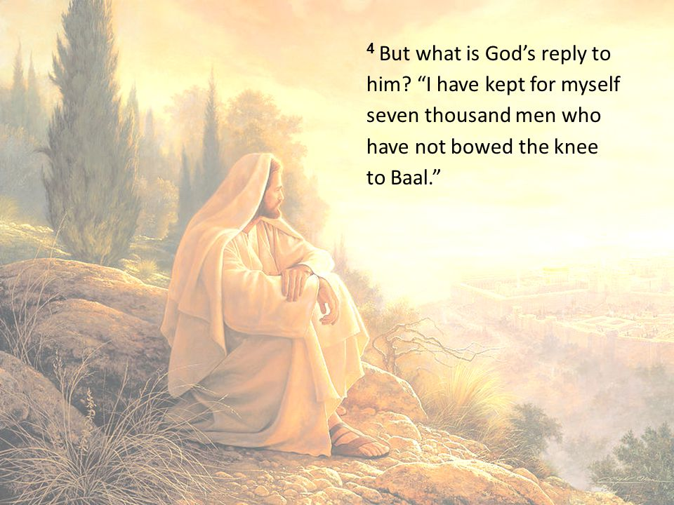 4 But what is God's reply to him