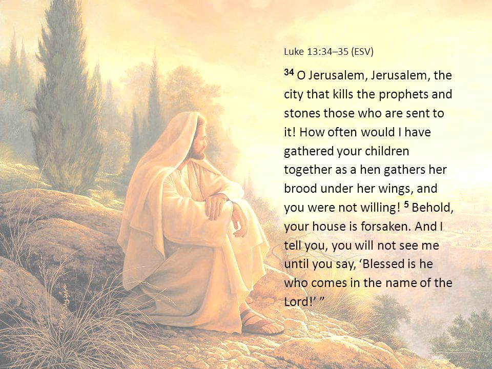 Luke 13:34–35 (ESV)