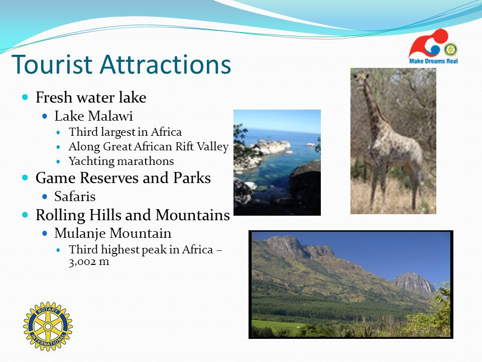 Tourist Attractions Fresh water lake Game Reserves and Parks