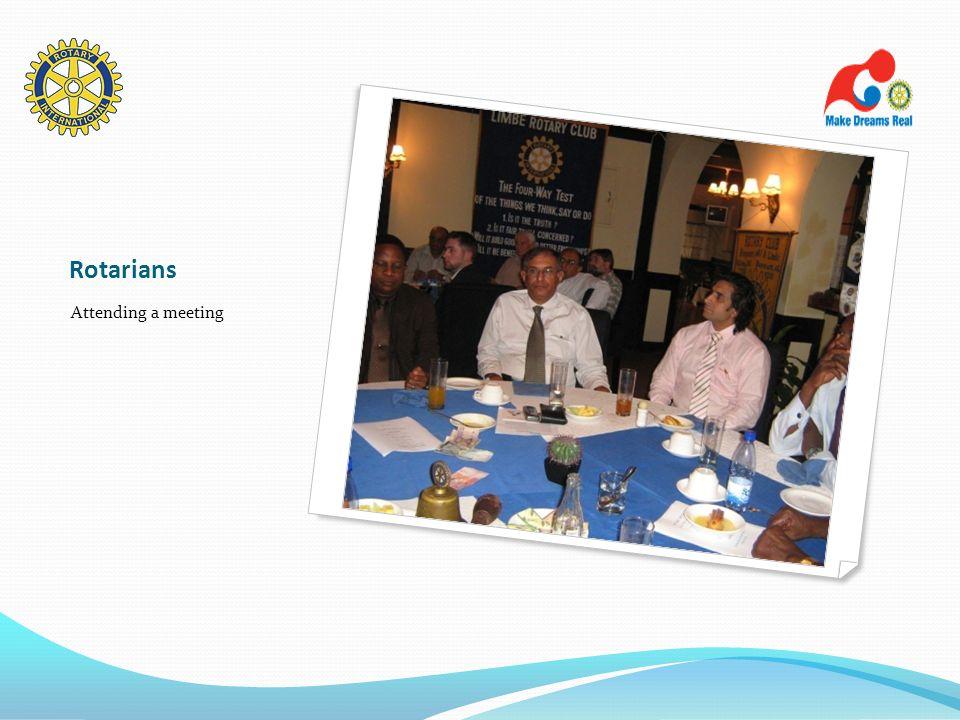 Rotarians Attending a meeting