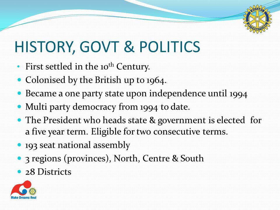 HISTORY, GOVT & POLITICS