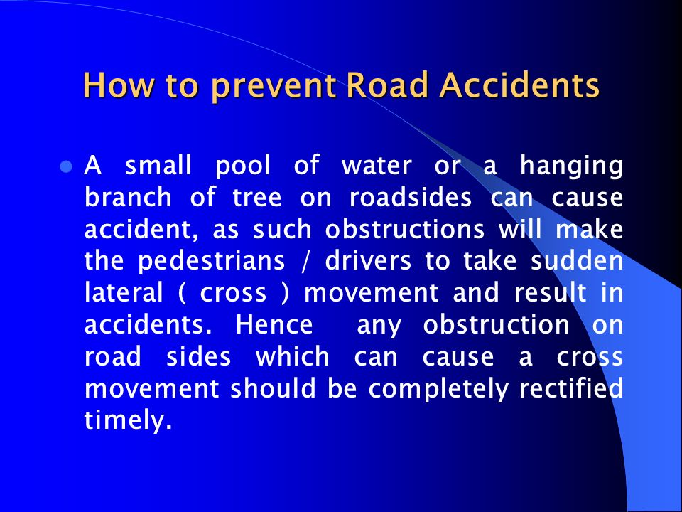 How to prevent Road Accidents