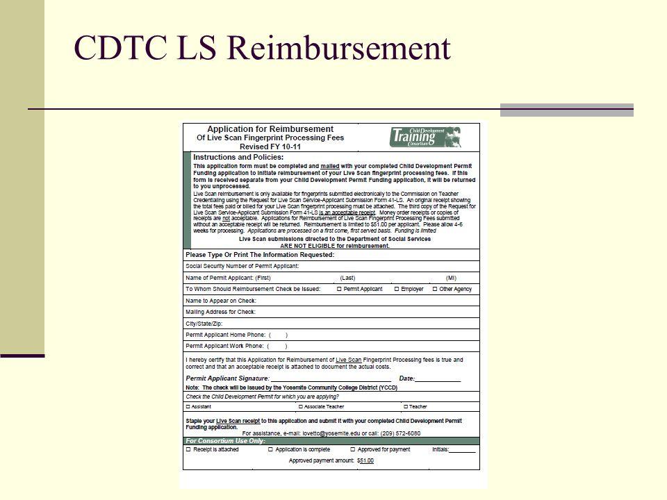 CDTC LS Reimbursement