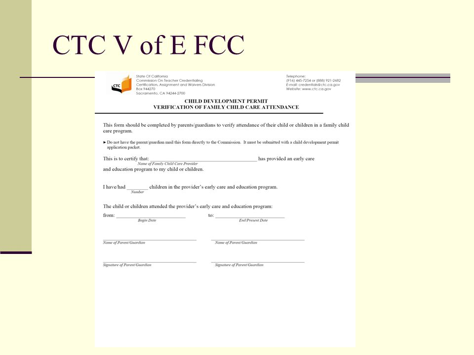 CTC V of E FCC
