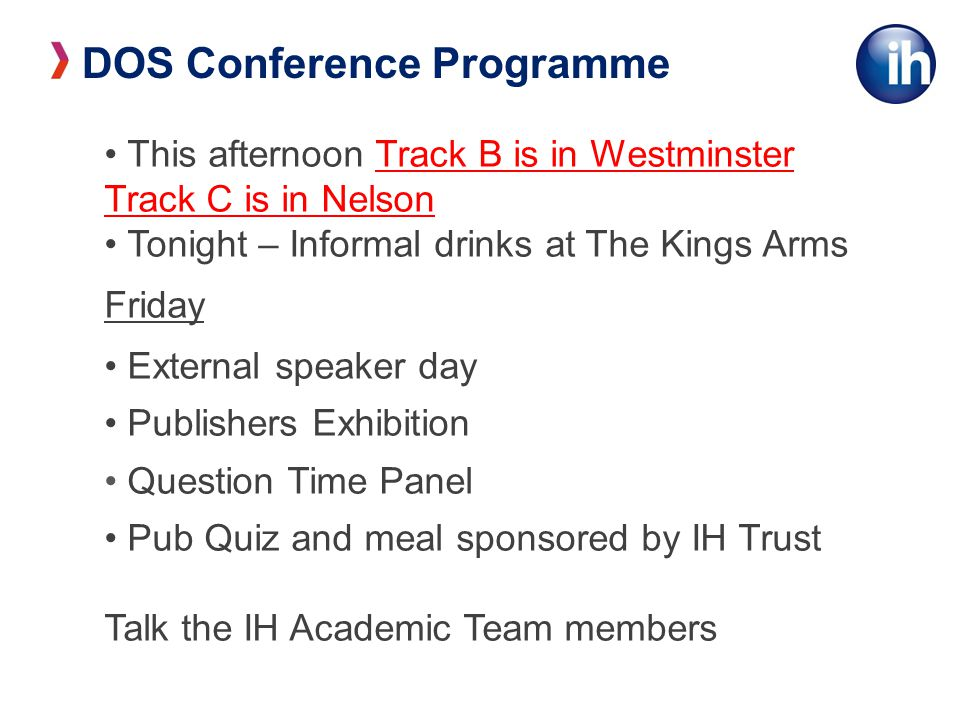 DOS Conference Programme