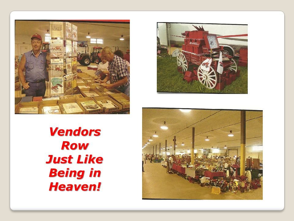 Vendors Row Just Like Being in Heaven!