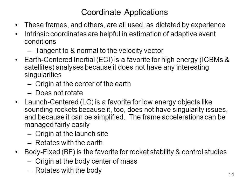Coordinate Applications