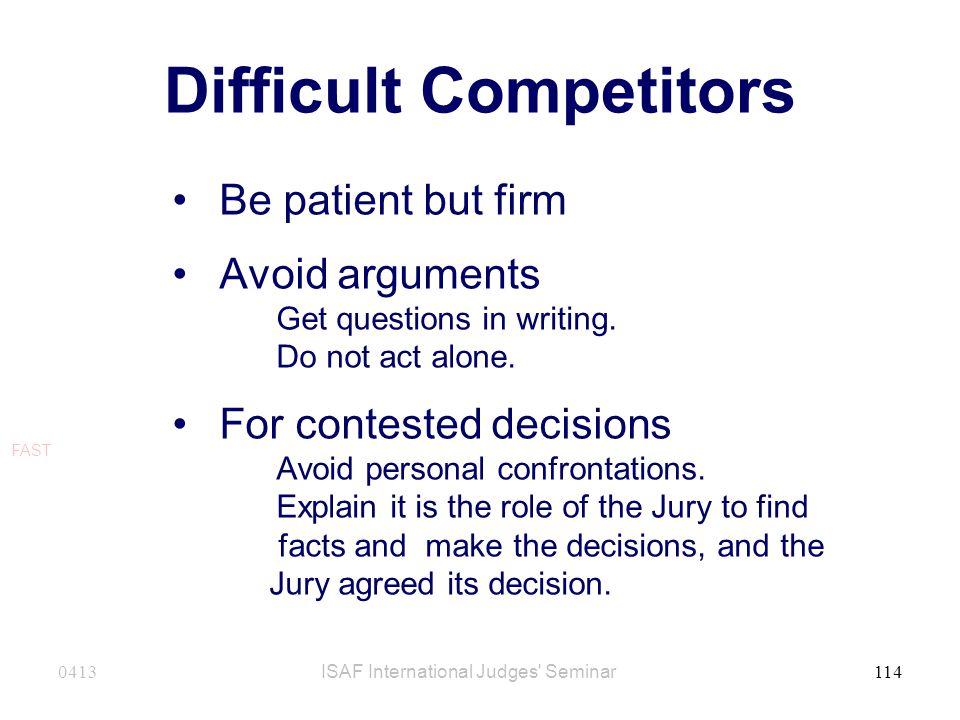 Difficult Competitors