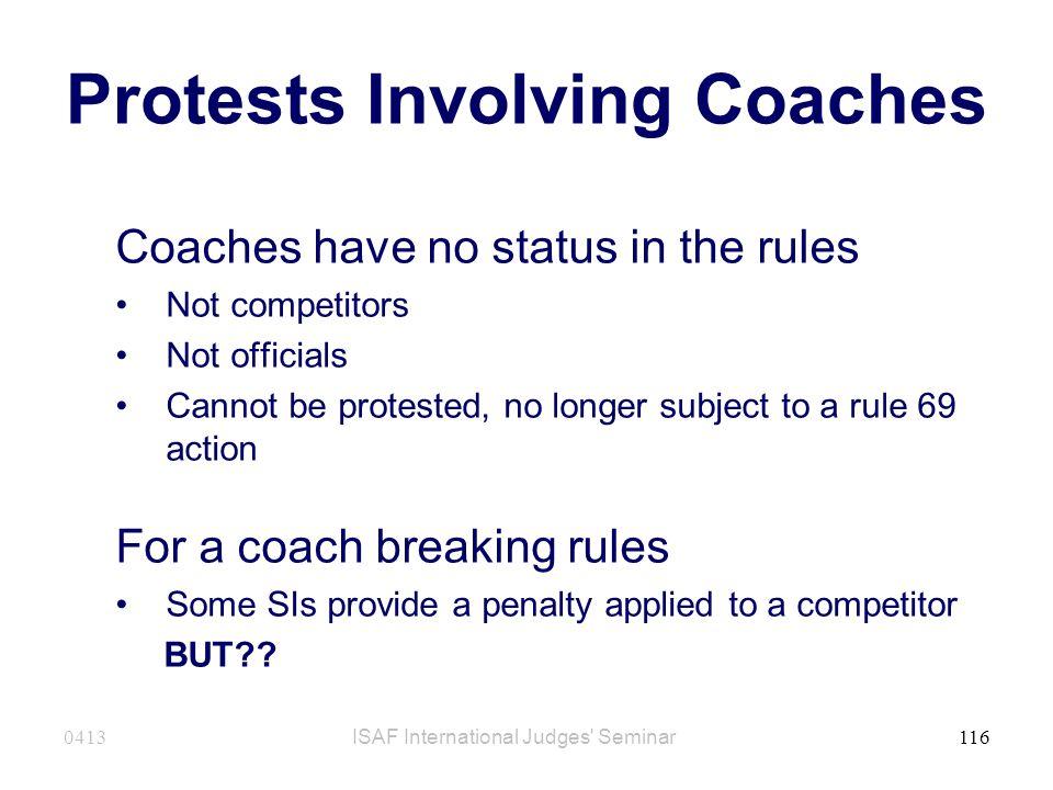 Protests Involving Coaches