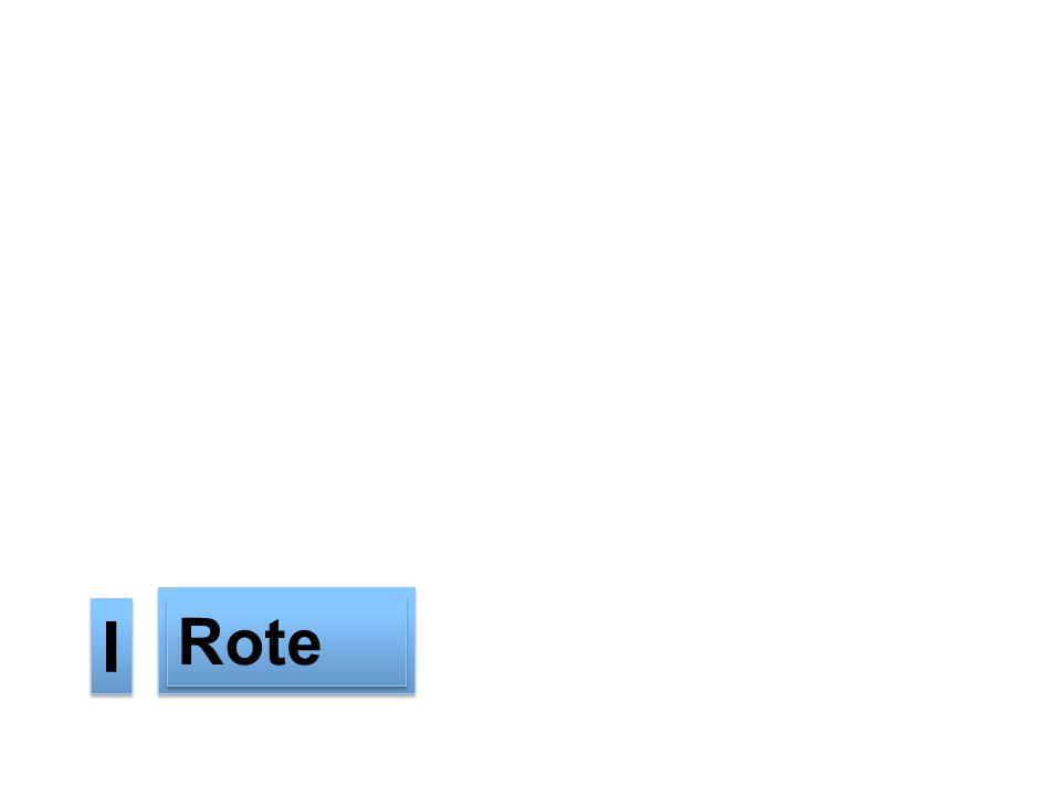 First is Rote --CLICK-- Rote I