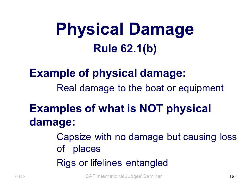 Physical Damage Rule 62.1(b)
