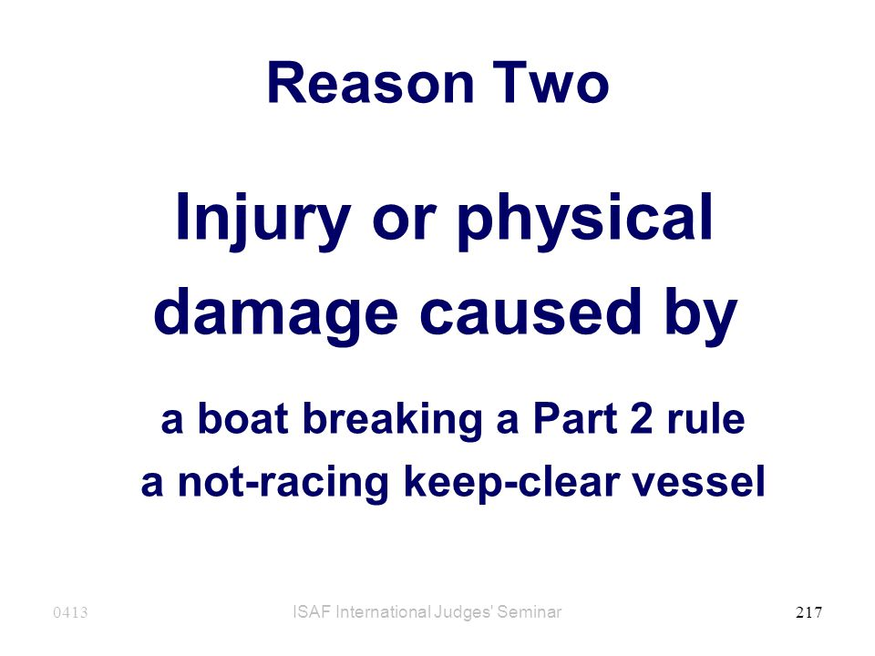a boat breaking a Part 2 rule a not-racing keep-clear vessel