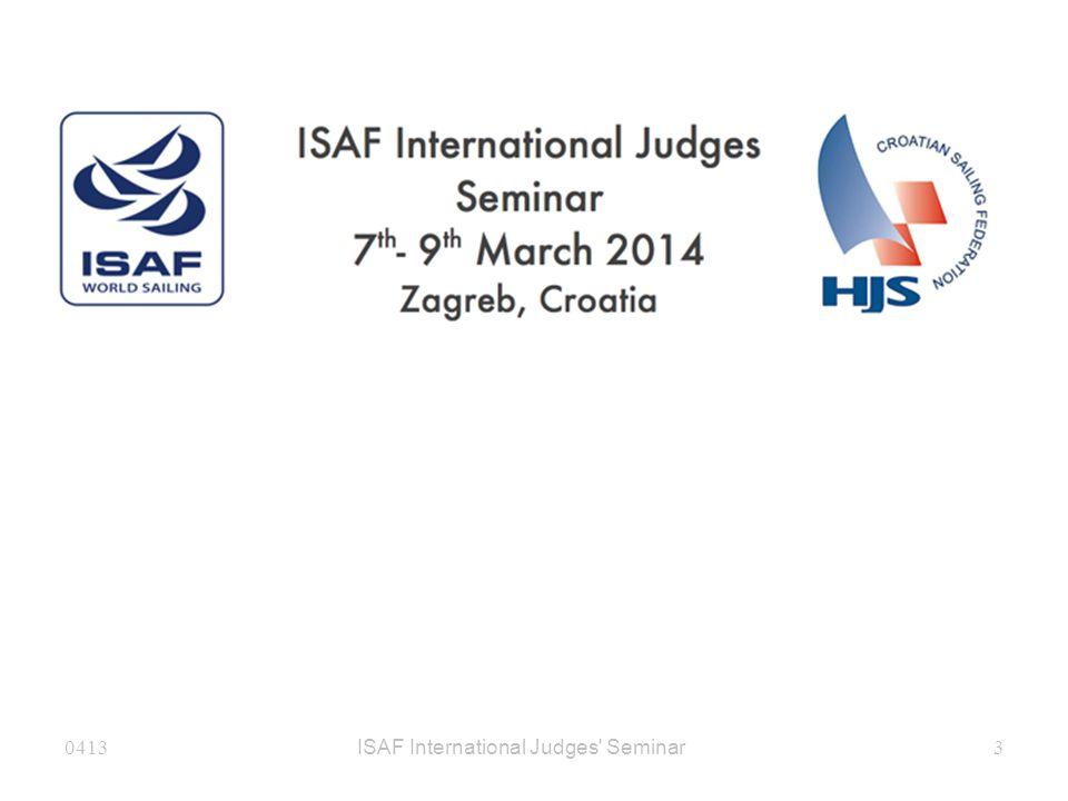 ISAF International Judges Seminar