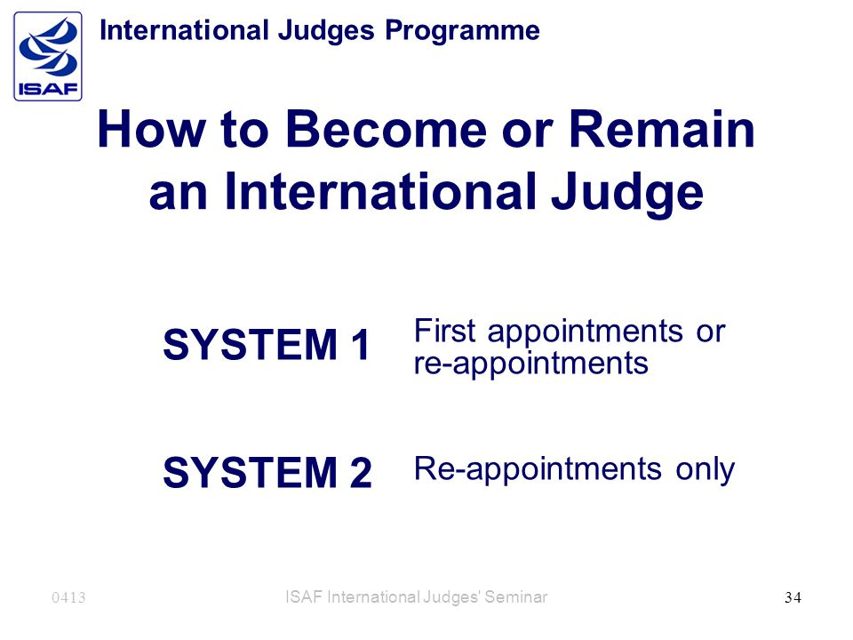 How to Become or Remain an International Judge