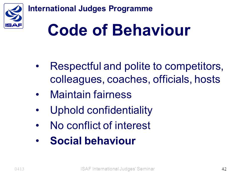 International Judges Programme