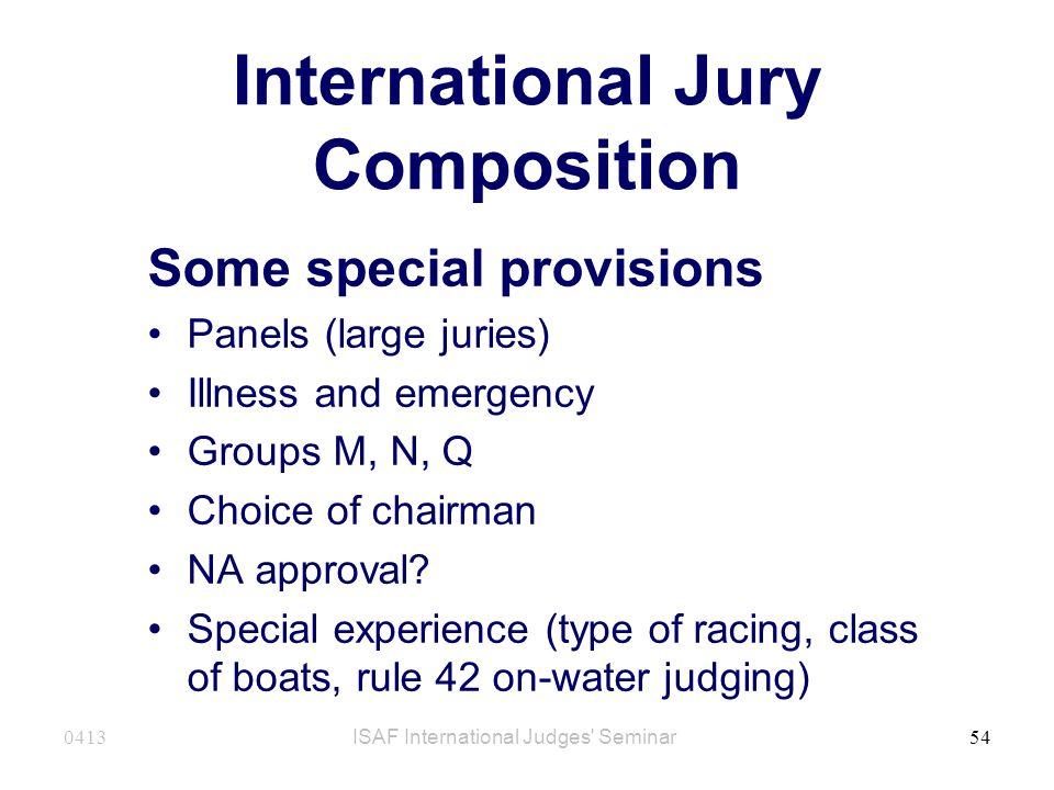 International Jury Composition