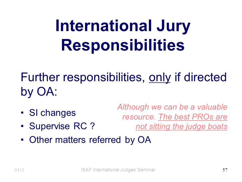 International Jury Responsibilities