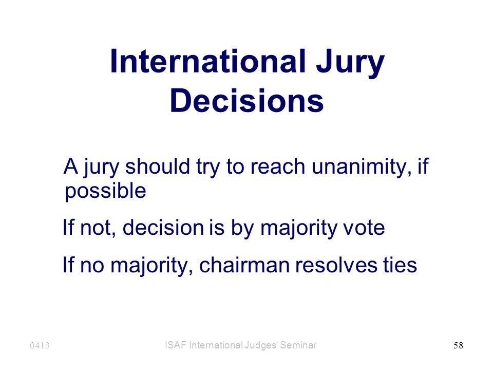 International Jury Decisions