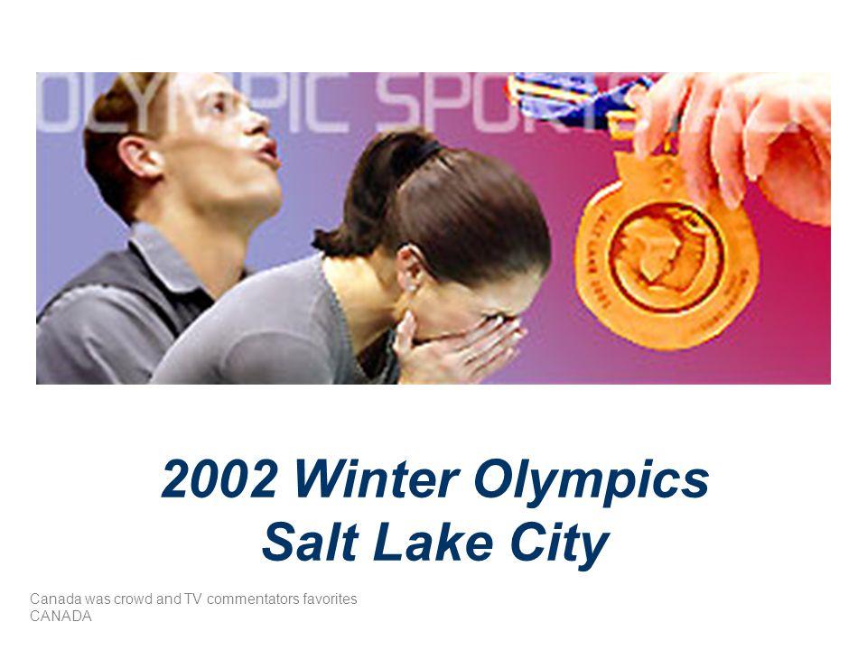 2002 Winter Olympics Salt Lake City