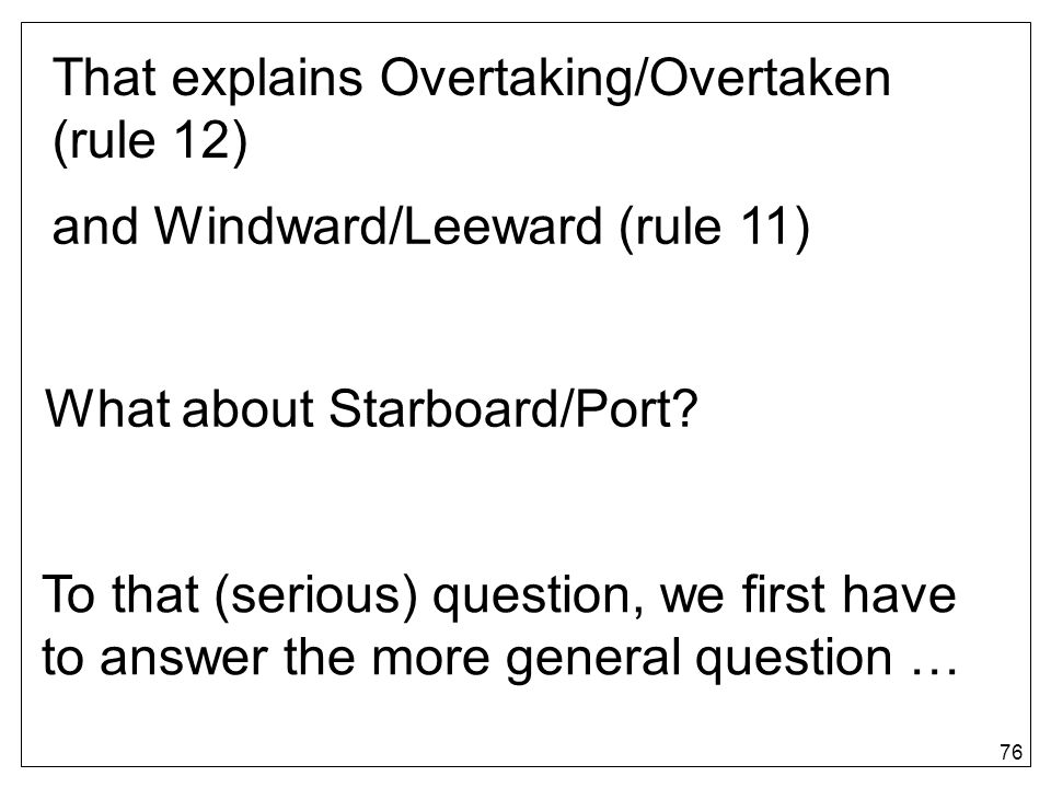 That explains Overtaking/Overtaken (rule 12)