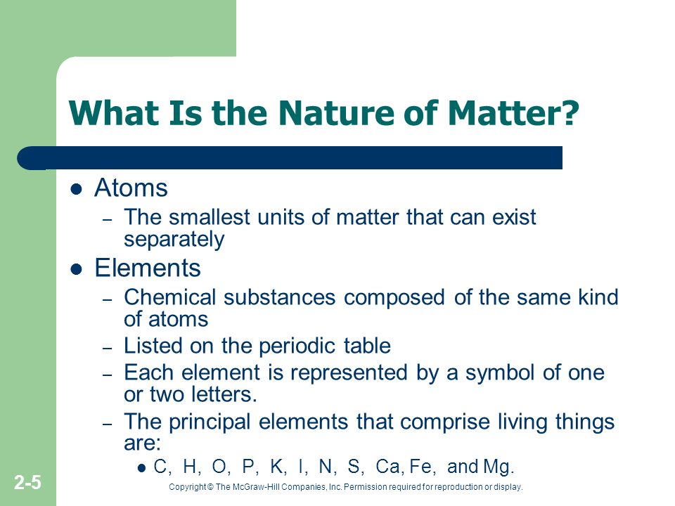 What Is the Nature of Matter