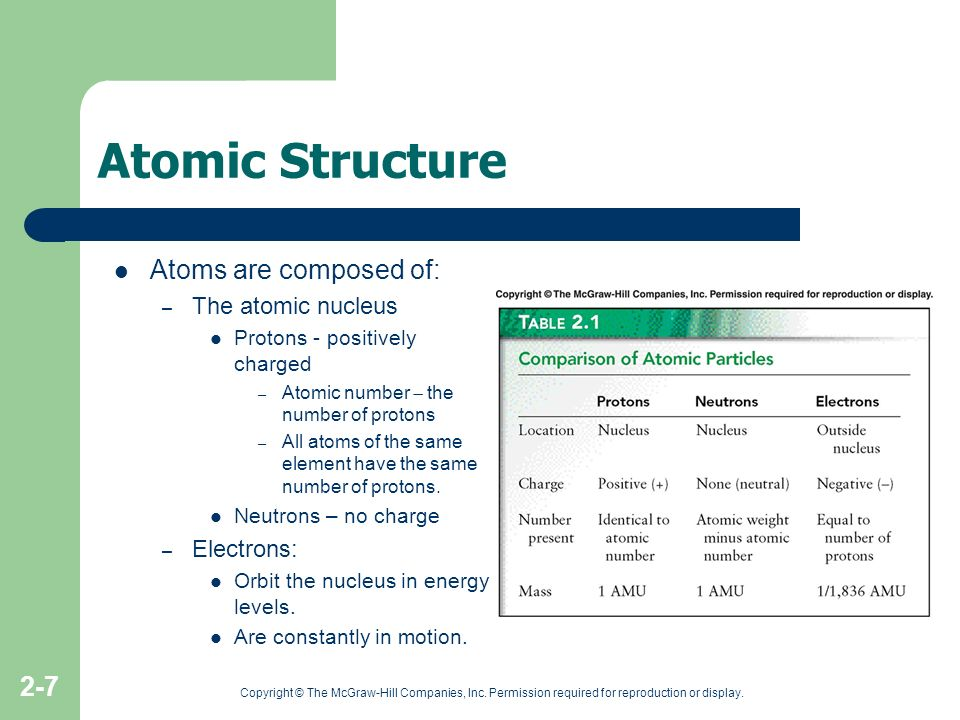 Atomic Structure Atoms are composed of: The atomic nucleus Electrons: