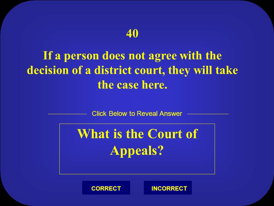 What is the Court of Appeals
