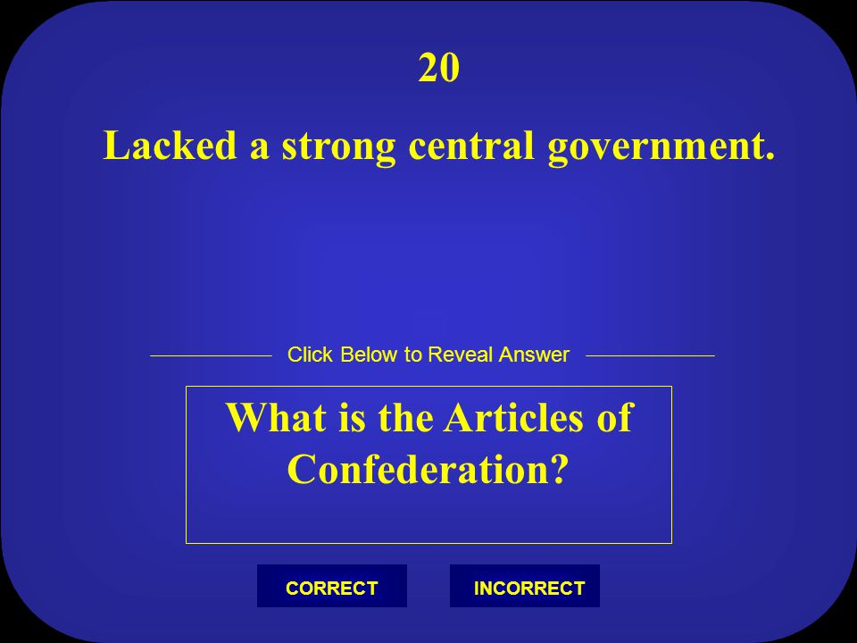 Lacked a strong central government.