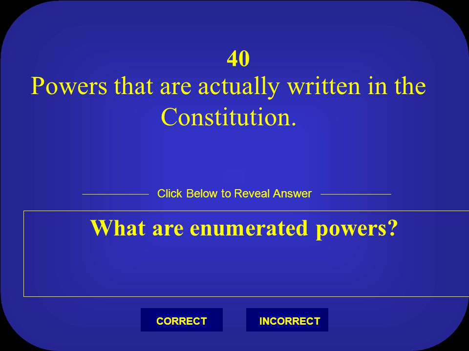 What are enumerated powers